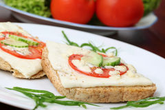 Sandwichs grillés à fromage Images libres de droits