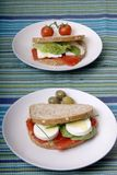 Sandwichs sains Photos libres de droits