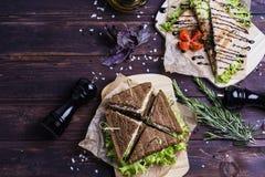 Sandwichs savoureux et frais image libre de droits