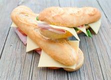 Sandwichs secondaires Photographie stock
