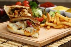 Sandwichs secondaires chauds photos libres de droits