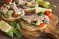 Sandwichs ? thon photographie stock libre de droits