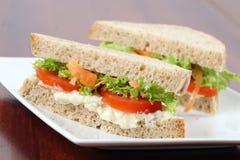 Sandwichs végétariens Photo libre de droits