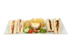 Sandwichsnackservierplatte Lizenzfreies Stockfoto