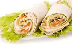 Sandwichverpackung Stockfoto