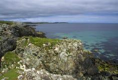 Sandwick bay (Unst, Shetland). Veiw near Sandwick beach at Unst (Shetland Islands Stock Photos