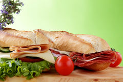 Sandwich with bacon end cheese Royalty Free Stock Photos