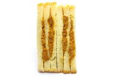 Sandwish na białym tle Zdjęcia Royalty Free