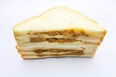 Sandwish na białym tle Obrazy Royalty Free