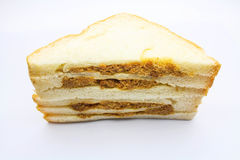 Sandwich. An isolated sandwish on white background Royalty Free Stock Images