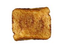Sandwitch del pane tostato del formaggio isolato fotografia stock libera da diritti