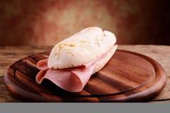 Sandwitch with italian mortadella Royalty Free Stock Photo