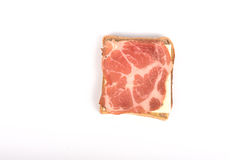 Sandwitch. Simple  sandwitch isolated on a white background Royalty Free Stock Photography