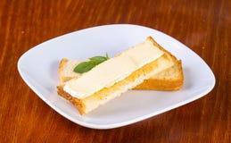 Sandwith avec du fromage de brie Images stock