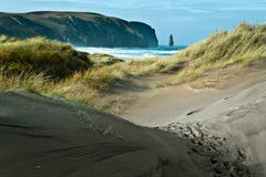 Sandwood Bay Beach. Is a one of the wildest place in Scotland Royalty Free Stock Images