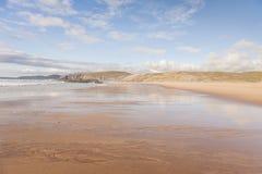 Sandwoodbaai in Schotland stock afbeeldingen