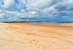 Sandy abandonó la playa Imagen de archivo