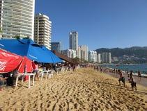 Sandy Acapulco Beach Stockfotos
