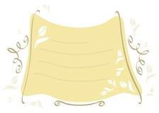 Sandy-amarelo-frame-com-tulips ilustração royalty free
