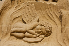 The sandy angel Royalty Free Stock Photos