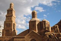 Sandy-Architektur Ostern-Dekorationen in Moskau Lizenzfreies Stockfoto