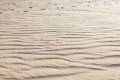 Sandy background, texture of an arid sand desert. Sandy background, texture of an arid barren sand desert Stock Photo