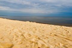 Sandy Baltic coast , Latvia. Royalty Free Stock Image