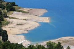Sandy banks of the Ubaye River, french Hautes-Alpes royalty free stock photos
