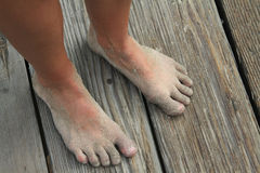 Sandy Bare Feet Stock Photo