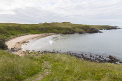 Sandy Bay along the Aberdeenshire Coast Royalty Free Stock Images