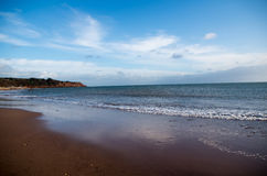 Sandy Bay Beach - Devon Photos libres de droits