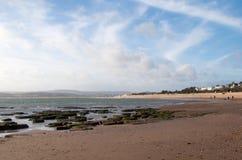 Sandy Bay Beach - Devon Royaltyfria Bilder