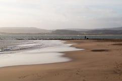 Sandy Bay Beach - Devon Photographie stock libre de droits