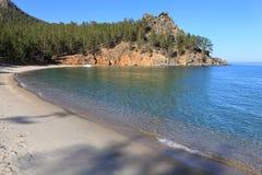 Sandy Bay no Lago Baikal Fotos de Stock