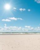 Sandy beach. Photo of sandy beach. Ventspils, Latvia Stock Image