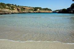 Sandy beach. On the Majorca, Spain royalty free stock photography