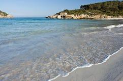 Sandy beach. On the Mallorca, Spain Stock Photos