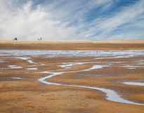 Sandy beach. The extensive sands at Holkham bay in North Norfolk, England Royalty Free Stock Images