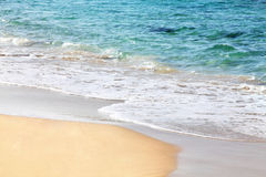 Sandy beach. And ocean in israel Royalty Free Stock Images