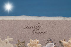Sandy Beach Royalty Free Stock Photography