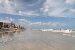 Sandy Beach. Lonely floridian beach / Daytona Beach Stock Image
