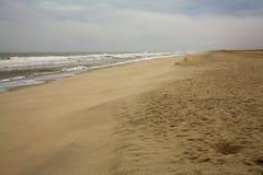 Sandy beach. On the Atlantic in North Carolina stock photo