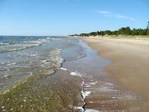 Sandy beach. Wild sandy beach on the northern sea coast Royalty Free Stock Photography