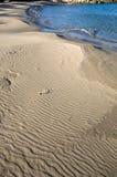 Sandy beach. Lonesome beach on Crete greece Royalty Free Stock Photography