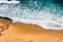 Sandy beach aerial view royalty free stock photo