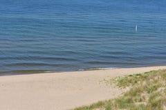 Sandy  Beach along Lake Michigan Stock Image