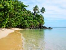 Sandy beach along Lavena Coastal Walk on Taveuni Island, Fiji. Taveuni is the third largest island in Fiji Stock Images