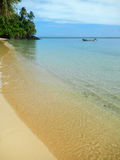 Sandy beach along Lavena Coastal Walk on Taveuni Island, Fiji. Taveuni is the third largest island in Fiji Stock Photography