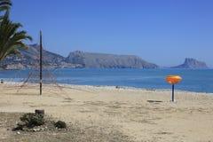 Sandy Beach Altea Spain. The Beautiful sandy beach on the Costa Blanca southern Spain royalty free stock image