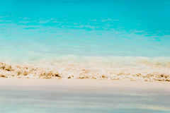 Sandy Beach And Waves Stock Photography